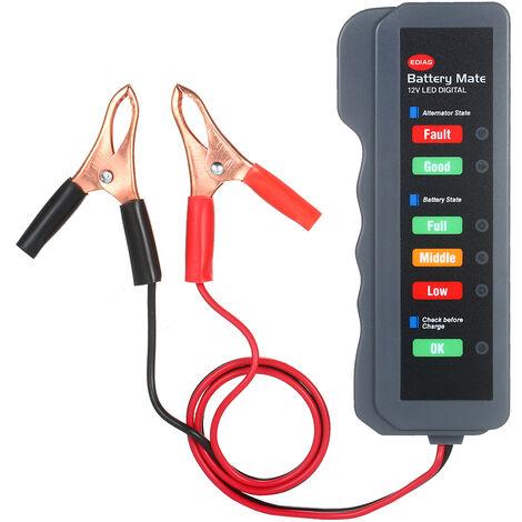 12V Batterie De Voiture Alternateur Testeur Led Numerique De Charge De La Batterie Condition De L'Alternateur Avec Analyseur De Cuivre Led Clip Pour Auto Moto