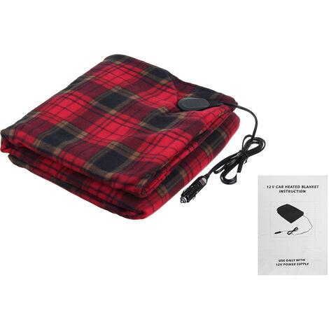 12V Car Electric Heated Fleece Blanket Warm Winter Cover 150x110cm