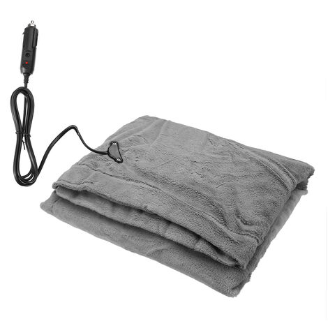 12V Car Electric Heated Plush Fleece Blanket Warm Winter Cover Heater 145*100cm