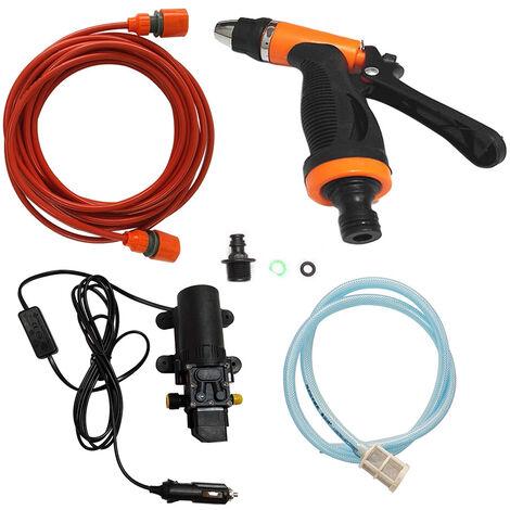 12V Car Wash Lavadora bomba electrica de limpieza Lavadora de Presion Dispositivo de herramientas, sin toalla