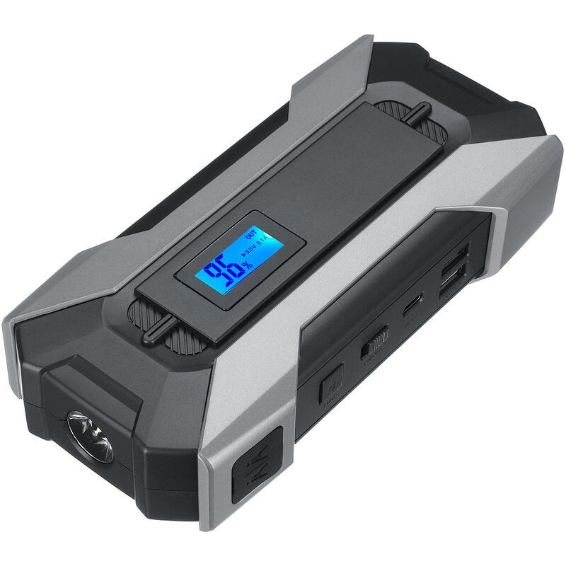 Augienb - 12V 9900mah Démarreur Chargeur Batterie Voiture Auto Moto Chargeur Intelligent 3 Modes Nocturne/Flash/SOS Noir