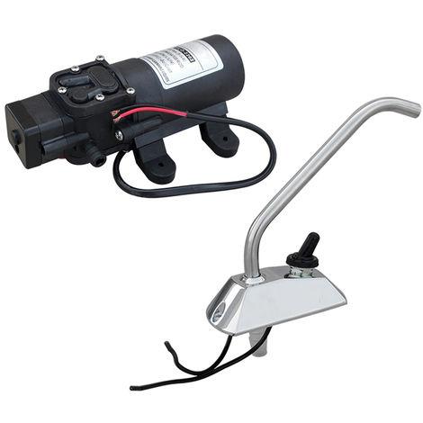 12V Diaphragm Pressure Water Pump DC+ Faucet 4.5LPM Self-priming RV Boat Camping