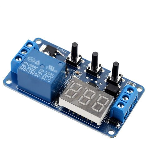 12V LED de automatizacion de control de retardo del temporizador interruptor del modulo de rele con el caso
