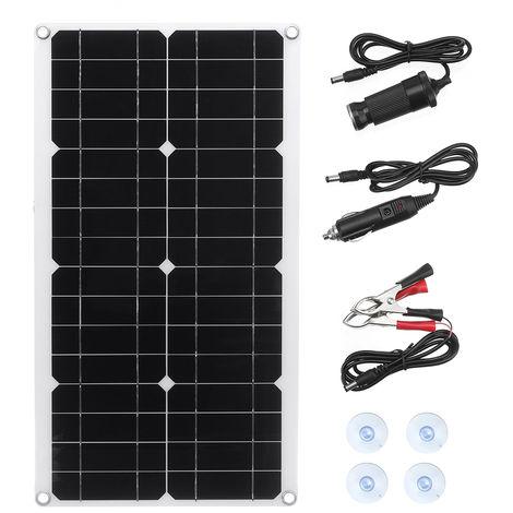 12V panneau solaire pliant batterie monocristalline chargeur flexible camping USB Panneau solaire 100W (530x290mm) uniquement