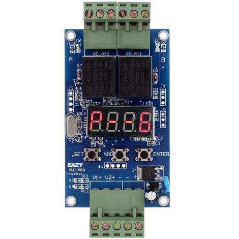 12V Programmable Double Relais Plc Conseil Cycle De Retard Module 2 Minuterie De Tension De Detection De Controle