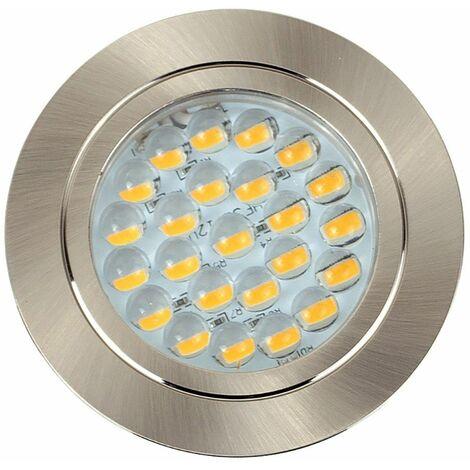 12V Recessed LED Caravan Downlights MotorBoat Lights Spotlights - Silver