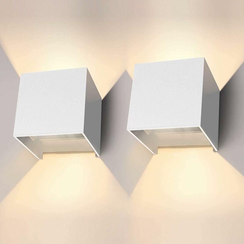 12W//16W Applique Murale Interieur LED Lampe Up and Down Design Blanc Chaud 3000K