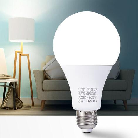 12W bombillas LED E27 bombillas de bajo consumo Blanco caliente 3000-3500K alto brillo de la lampara, 85V-265V, blanco calido