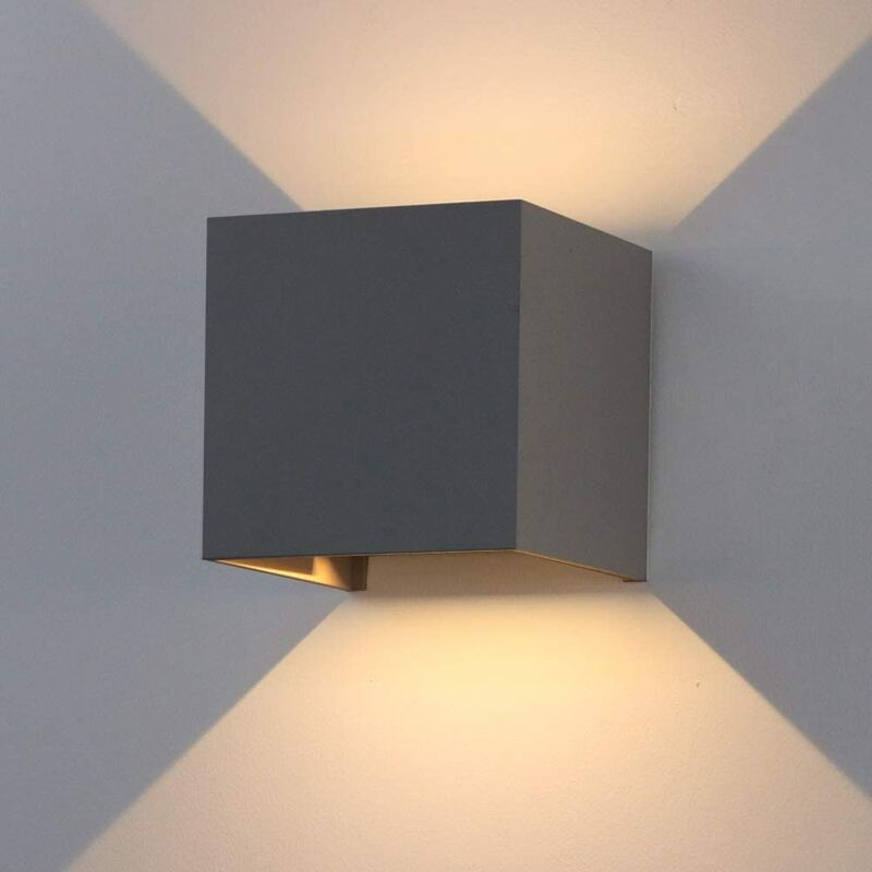 Image of 12W Modern Wall Sconce Black Led Wall Light Warm White Aluminum Wall Lamp