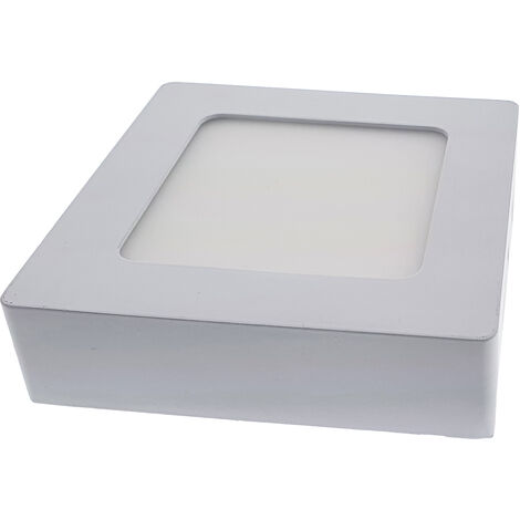 12W Panel LED superficie - Cuadrado 4000K 170x170
