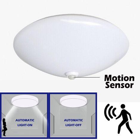 12W Plafonnier LED Ronde Detecteur de mouvement - Diamètre 26cm