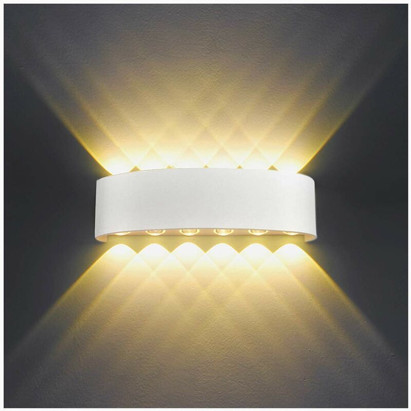Image of 12W Retro LED Wall Light Modern Wall Sconce Nordic Wall Lamp White Simple Wall Lamp Warm White