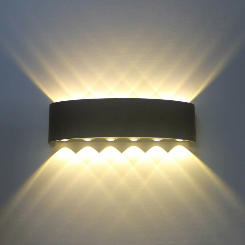 Image of 12W Retro LED Wall Light Nordic Wall Lamp Black Modern Wall Sconce Simple Wall Lamp Warm White