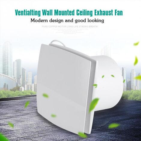 12W Wall/Window Kitchen Bathroom Axial Fan with Timer, 100m3h, IPX4