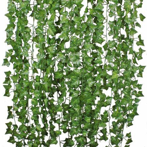 12X 200cm Artificial Ivy Grape Vines Leaf Garland Plants Vine Rattan Wreath Wedding Photography Decorations WASHED