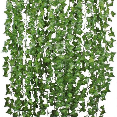 12X 200cm hiedra artificial vides de uva hoja guirnalda plantas vid corona de ratán decoraciones de fotografía de boda Sasicare
