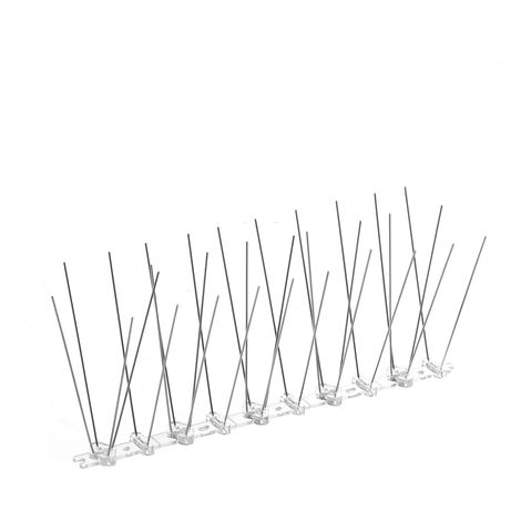 12x Anti-Bird Spikes Stainless Steel Plastic Anti-Pigeon Repellent