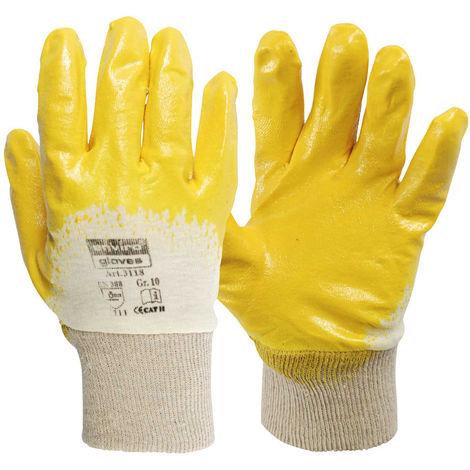 12x Enviro Glove Nitril-Handschuh gelb - Größe 11