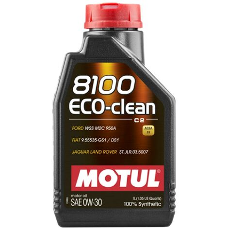12x Huile Motul 8100 Eco-Clean C2 0W30 bidon de 1L