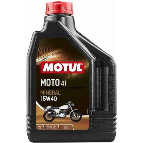 12x Huile Motul moto 4T 15W40 bidon de 2L