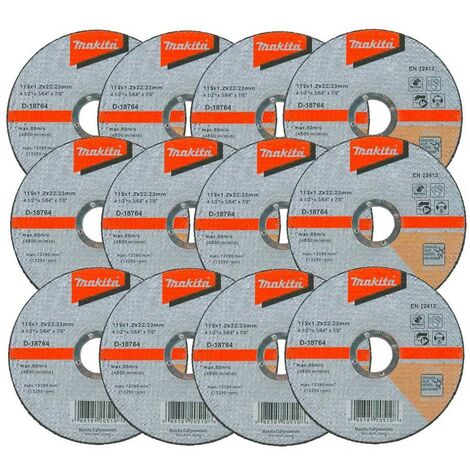 """main image of """"12x Makita D-18764 Fast Cutting Extra Thin Metal Grinder Disc 115mm 1.2 22.23mm"""""""