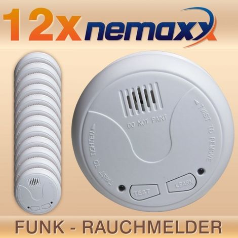 12x Nemaxx WL2 Funkrauchmelder