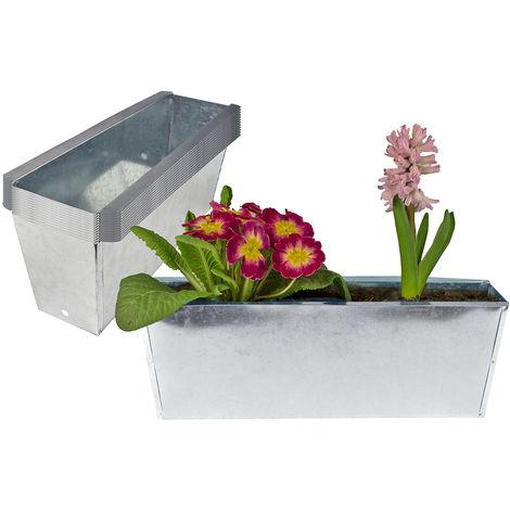12x Pflanzkasten Palette verzinkt Paletten Blumenkasten Pflanzkübel 35,5 x 12,5 x 12 cm Palettenkasten