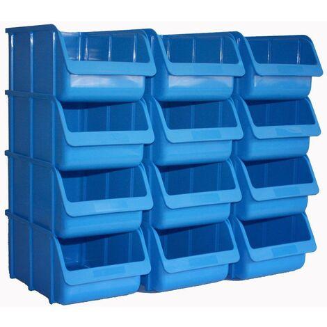 20 Stück Stapelboxen Lagerboxen Sichtbox Sichtlagerboxen Grösse 2 A100-Rot