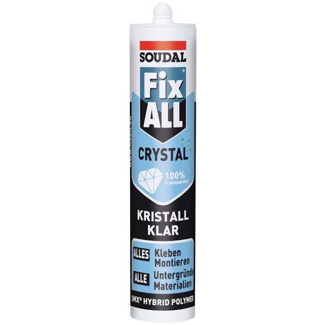 12x Soudal Fix ALL CRYSTAL 290 ml glasklar