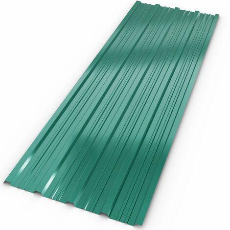 12x Tôles profilée / ondulée 129 x 45 cm = 7m²