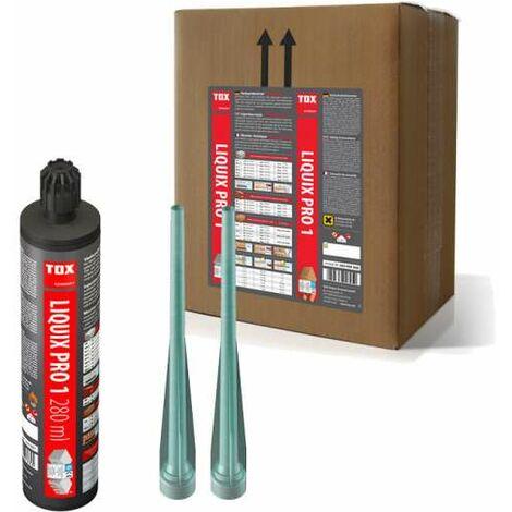 12x TOX Verbundmörtel Liquix Pro 1 styrolfrei 280 ml + 24 Statikmischer, 084100081