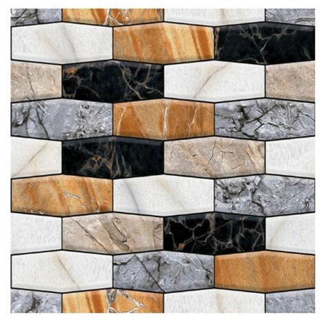 """12""""X12"""" Peel Et Baton Papier Peint Auto-Adhesif Amovible Papier Contact Sur Cuisine Salle De Bains Mur 3D Sticker Wallpaper Tiles"""