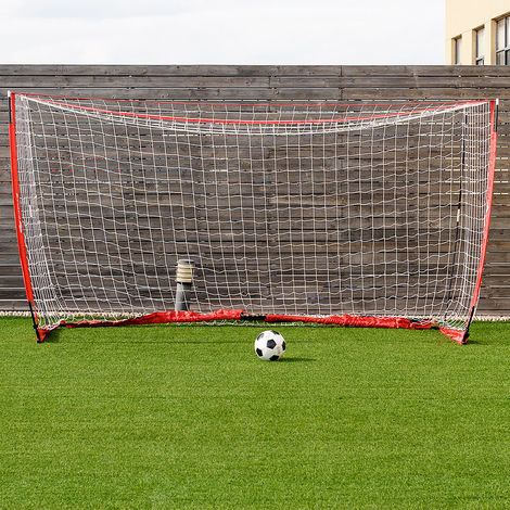12x6' Footall Goal Net Outdoors Shooting Target Sports Match Square Soccer Nets