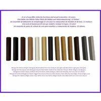 13 Batons de remplissage de cire colore pour le bois et les meubles stratifies. Le meilleur de l'enlevement des defauts!