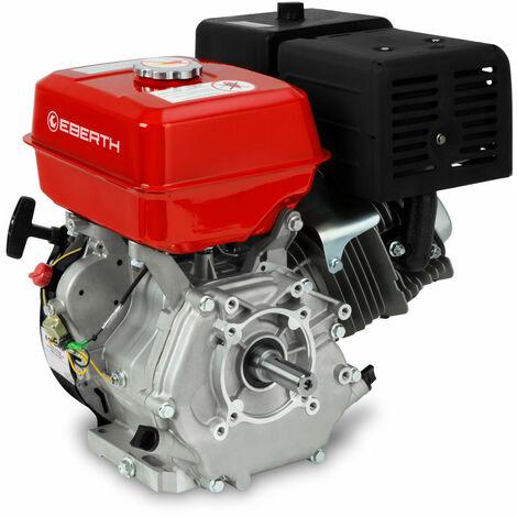13 CV Moteur à essence thermique (25 mm Arbre, Alarme manque dhuile, 4 Temps, 1 Cylindre, Refroidissement à air, Démarrage via câble)