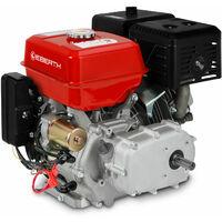 13 CV Motor a gasolina con Embrague de baño de aceite (Arranque électrico, 22 mm Eje, Seguridad por falta de aceite, 1 Cilindro, 4 Tiempos, refrigerado por aire)