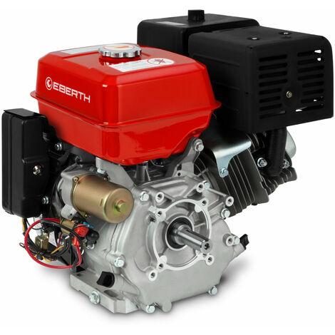 13 CV Motor a gasolina (E-Start, 25 mm Diámetro del eje, Seguridad por falta de aceite, 1 Cilindro, 4 Tiempos, refrigerado por aire, Arranque electrico y rectractil, Bateria)