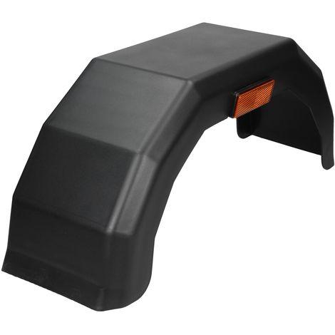 """13"""" Garde-boue remorque 220x780mm en plastique noir pneu roue pneumatique auto"""