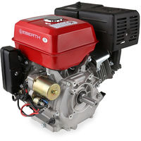 13 HP 9.56 kW Petrol Engine (E-Start, 25 mm Shaft, Low Oil Protection, Air-cooled Singel Cylinder 4-stroke Engine, Recoil Start, Alternator, Battery) Motor