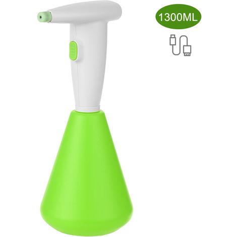 1300 ml pulverizador electrico de riego Pulverizacion la aspersion puede botella de spray con recargable de 2000 mAh de la bateria, Verde