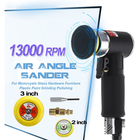 13.000 rpm 2 pulgadas 3 pulgadas de mini lijadora orbital neumática de aire búfer Herramientas de aire orbital pulidora de doble acción coche Mohoo