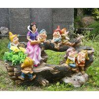 13020, Biancaneve e i 7 nani, decorazione da giardino, 32 cm, diversi design