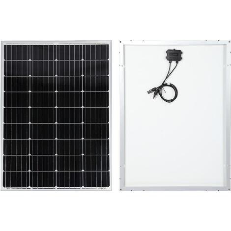 130W Solarmodul mit monokristallinen Zellen 18V 1276x676mm wetterfestes Schutzglas Solarpanel Sonne