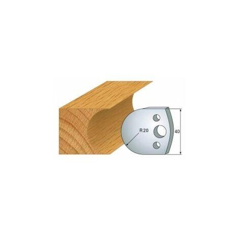 131 : jeu de 2 fers 40 mm demi rond 40 mm pour porte outils 40 et 50 mm
