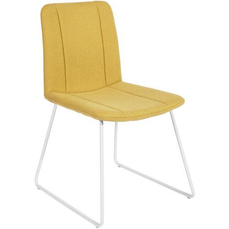 1314 Juego de 2 sillas de comedor amarillas