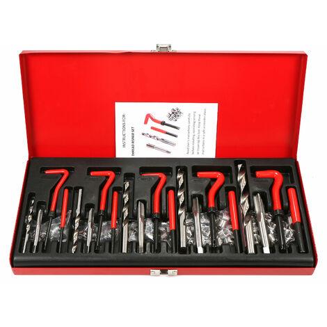 131Pcs Helicoil Filetage Kit De Reparation M5 M6 Metric8 Metric10 M12 Filete Outil Bits Twist Drill
