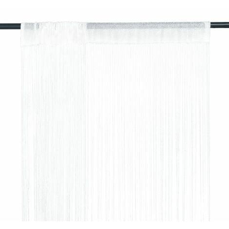 String Curtains 2 pcs 140x250 cm White