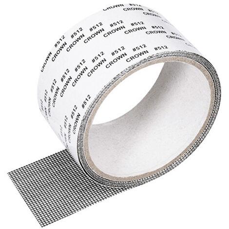1328 moustiquaire simple auto-adhesive, fenetre d'ecran invisible DIY peut etre coupee et cryptee avec Velcro, 5 cm * 2 m