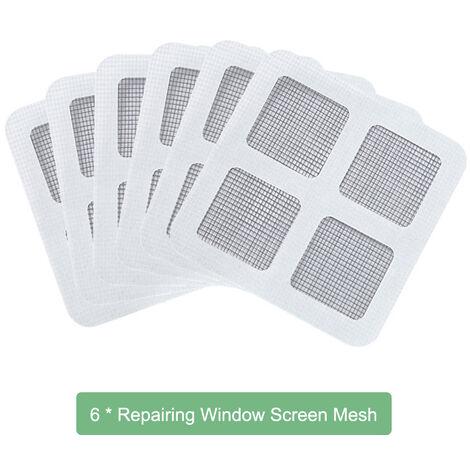1328 moustiquaire simple auto-adhesive, fenetre d'ecran invisible DIY peut etre coupee et cryptee avec Velcro, six paquets
