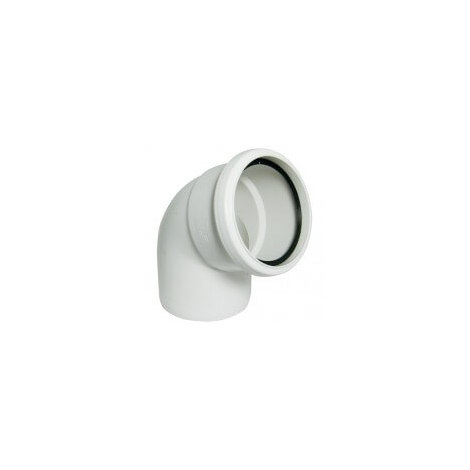 135 Degree Bend Single Socket White Soil